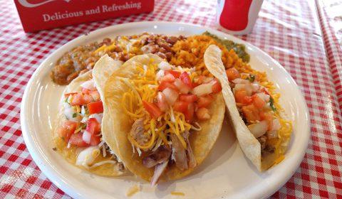 2 Beef 1 Chicken Taco Plate